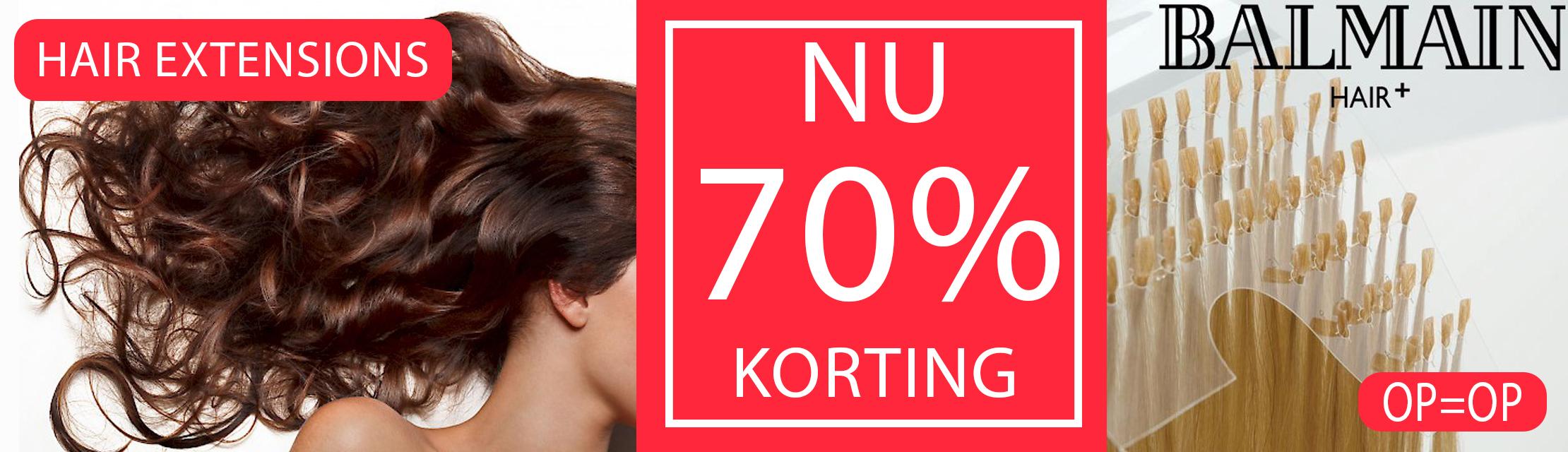 BALMAIN HAIR EXTENSIONS 70% KORTING!!