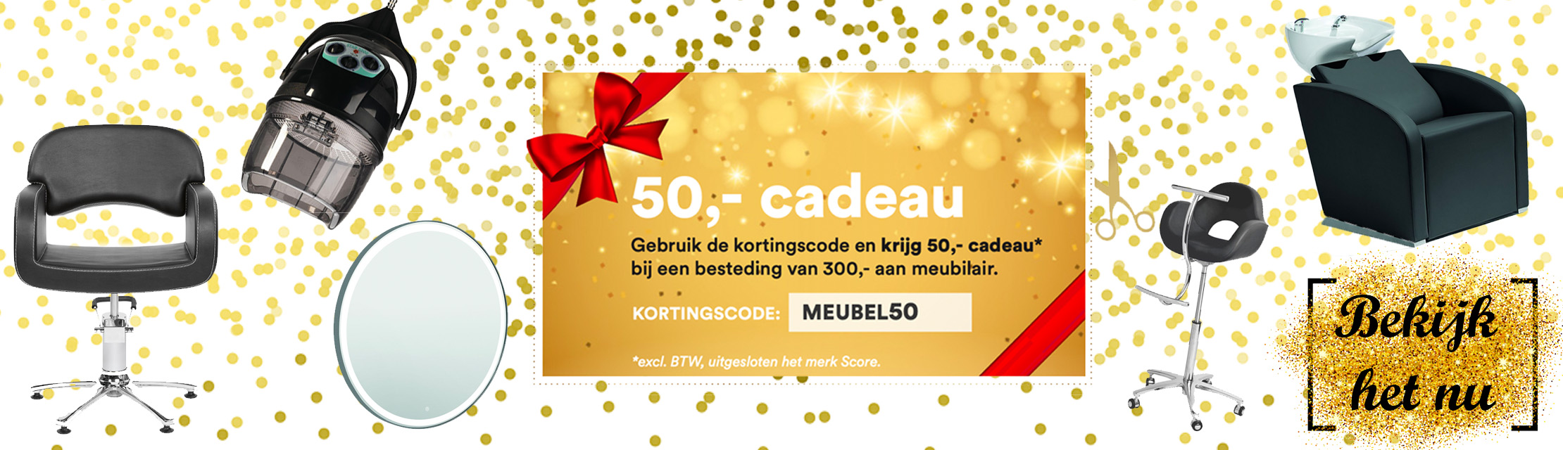 €50,- cadeau op meubilair