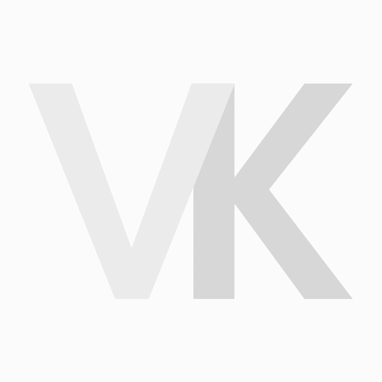 Kaplaken Barber Zwart met Krijtstreep Breed