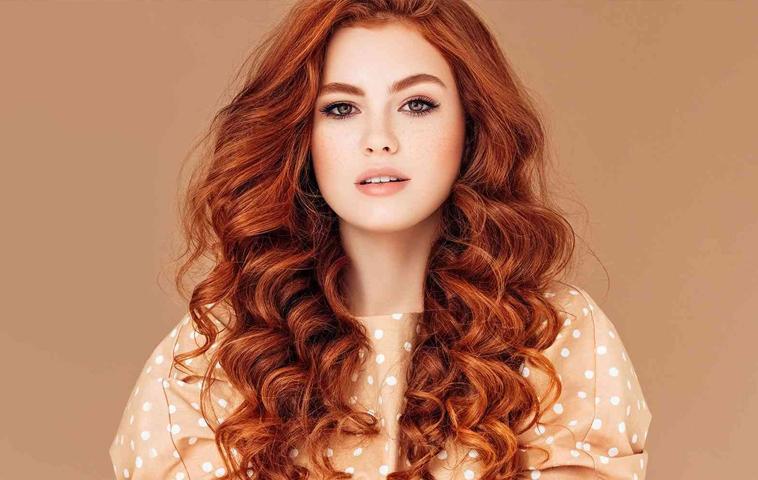 Lowlights Woman Red hair
