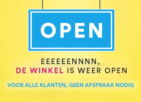 Winkel weer open!